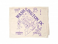Washington DC Tea Towel Natural