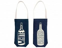 Denim White Wine Tote