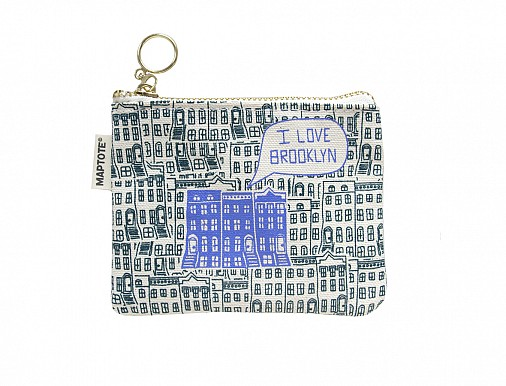 Brooklyn Coin Purse Dark Teal/Periwinkle