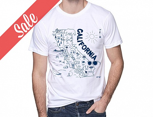 California Adult Tee White - SALE