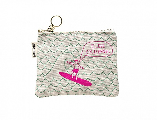 California Coin Purse Green/Pink