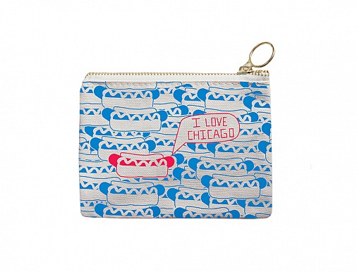 Chicago Coin Purse Blue/Red