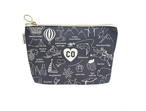 Colorado Zipped Pouches Gray