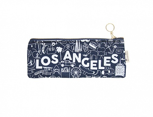 Los Angeles Pencil Pouch Denim