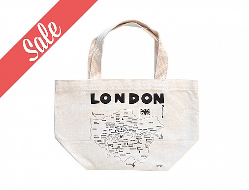 London Mini Tote (Black Ink) - SALE