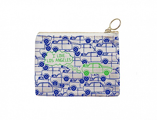 Los Angeles Coin Purse Blue/Green