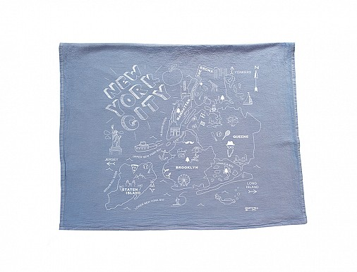 New York City Tea Towel Blue