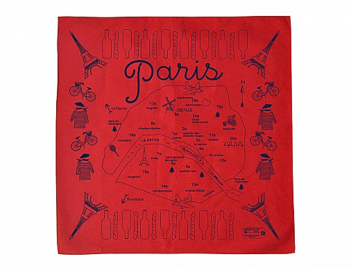 Paris Bandana - Red