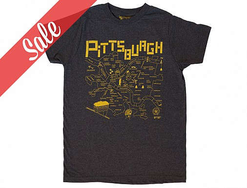 Pittsburgh Adult Tee Charcoal - SALE