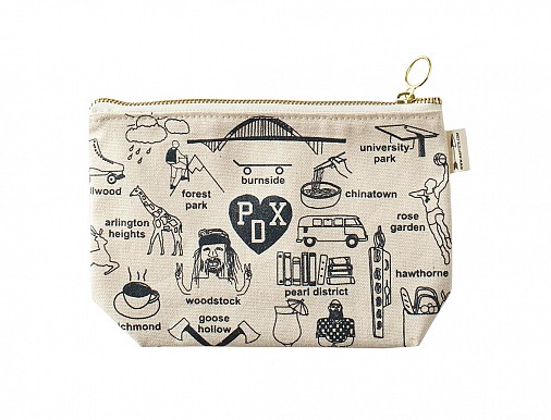 Portland Zipped Pouches Natural