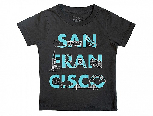 San Francisco FONT Toddler Tee