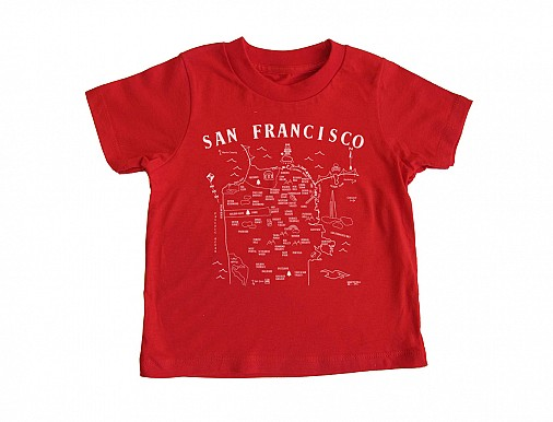 San Francisco Toddler Tee Red