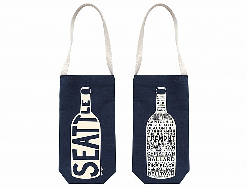 Denim Seattle Wine Tote