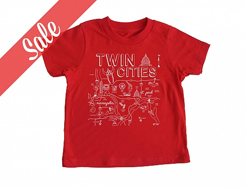 Twin Cities Red Toddler Tee - SALE