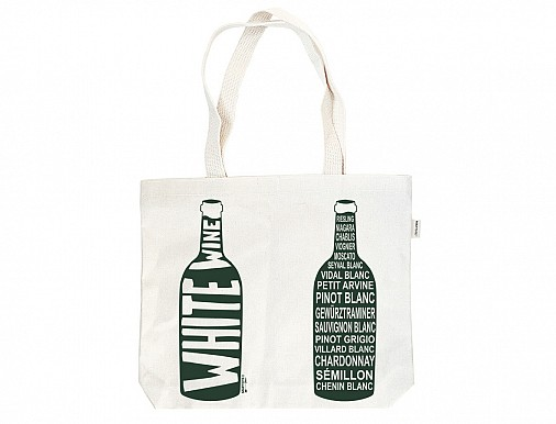 White Double Wine Tote