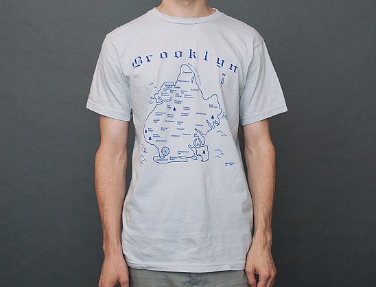 Brooklyn Adult Tee Silver