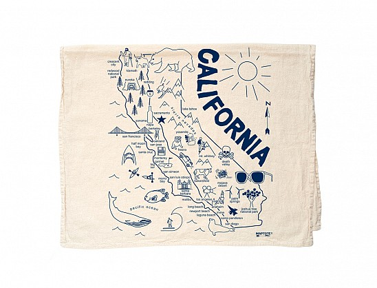 California Tea Towel Natural