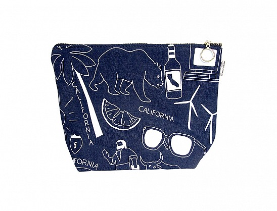 California Makeup Pouch - Denim
