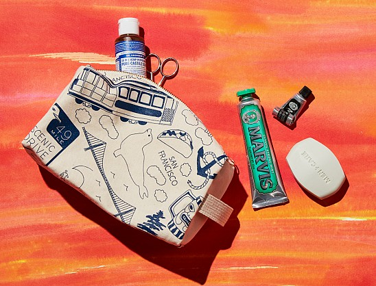 Los Angeles Dopp Kit - Natural