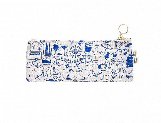 Los Angeles Pencil Pouch Natural