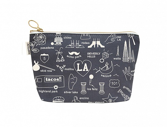 Los Angeles Zipped Pouches Gray