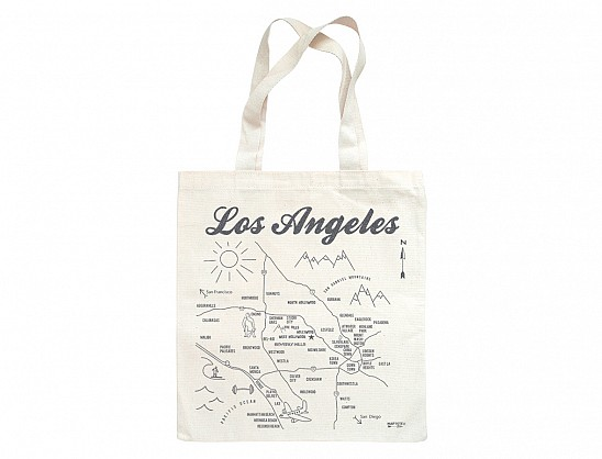 Los Angeles Metallic Grocery Tote