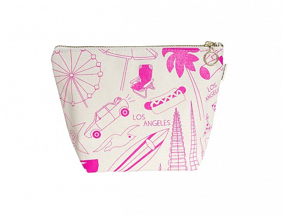 Los Angeles Makeup Pouch - Natural