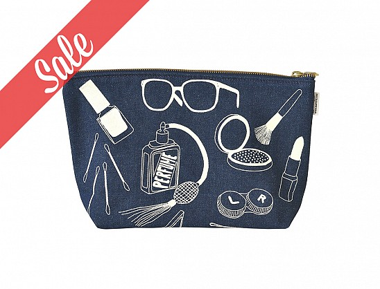 Makeup Pouch - Denim
