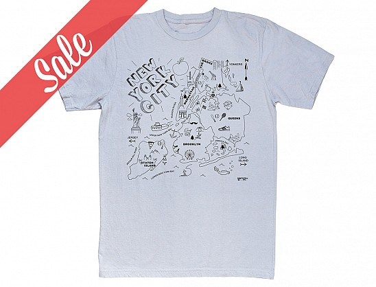New York City Adult Tee Silver