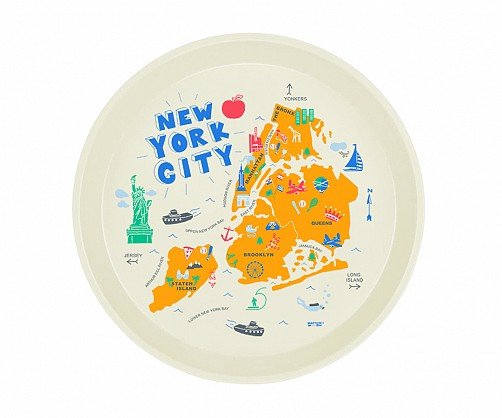New York City Round Tray
