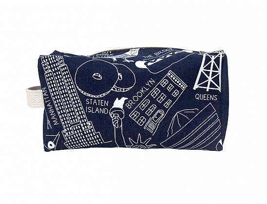 New York City Dopp Kit - Denim