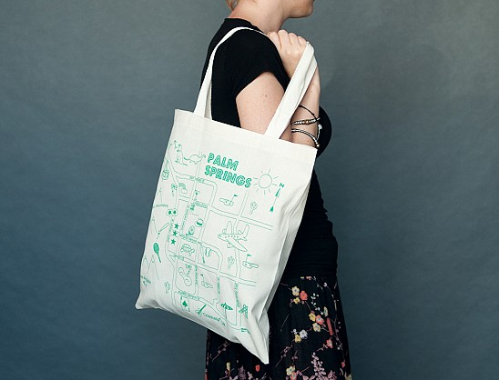 Palm Springs Grocery Tote