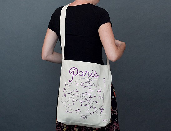 Paris Natural Hobo Tote