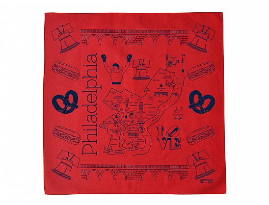 Philadelphia Bandana - Red