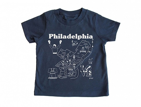 Philadelphia Toddler Tee Navy