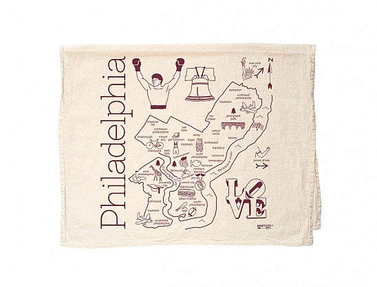 Philadelphia Tea Towel Natural