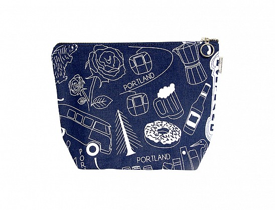 Portland Makeup Pouch - Denim