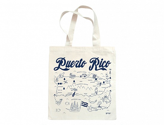 Maptote Puerto Rico Grocery Tote