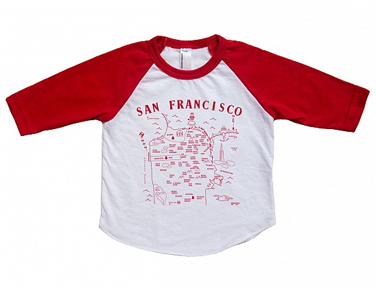 San Francisco Baby Baseball Tee