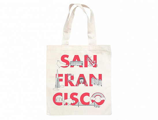 San Francisco FONT Grocery Tote