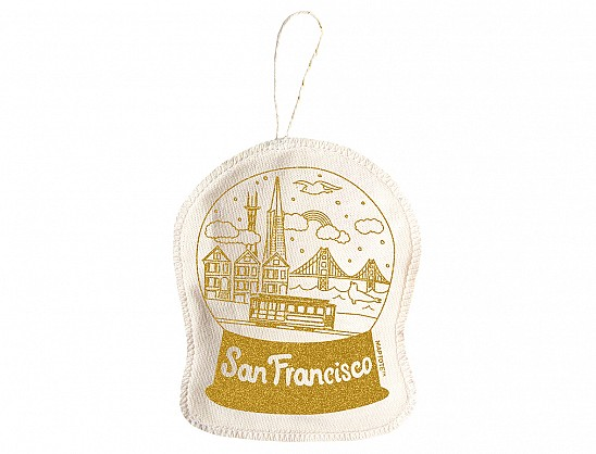 San Francisco Ornament Gold
