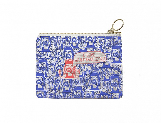 San Francisco Coin Purse Periwinkle/Coral