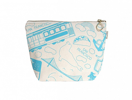 San Francisco Makeup Pouch - Natural