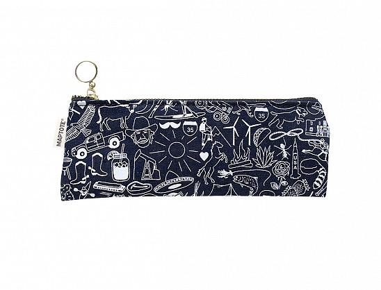 Texas Pencil Pouch Denim