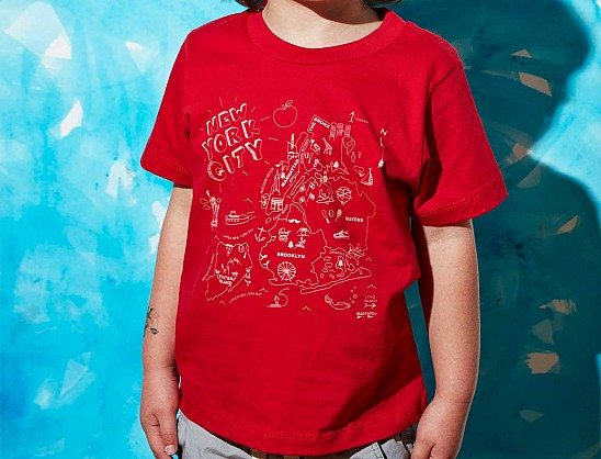 New York City Toddler Tee Red