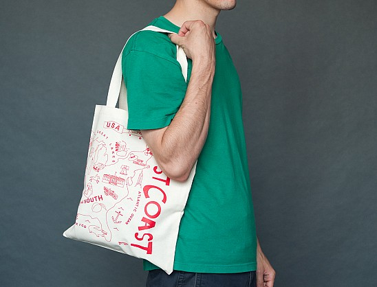 USA Red Grocery Tote
