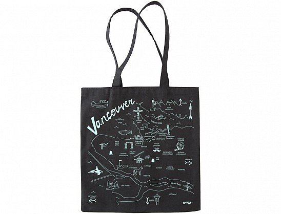 Vancouver Black Everyday Tote