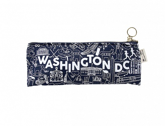 Washington DC Pencil Pouch Denim
