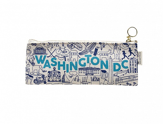 Washington DC Pencil Pouch Natural